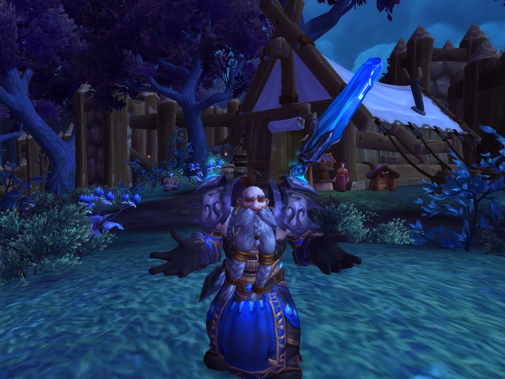 Shrugging dwarf in alliance garrison