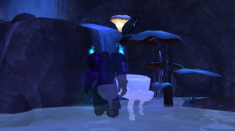 Dwarf Shadow Priest mushrooms cave screenshot
