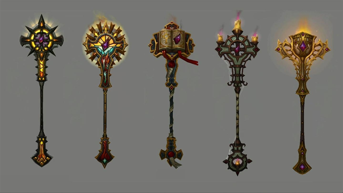 Ira da Luz e algumas de suas skins.