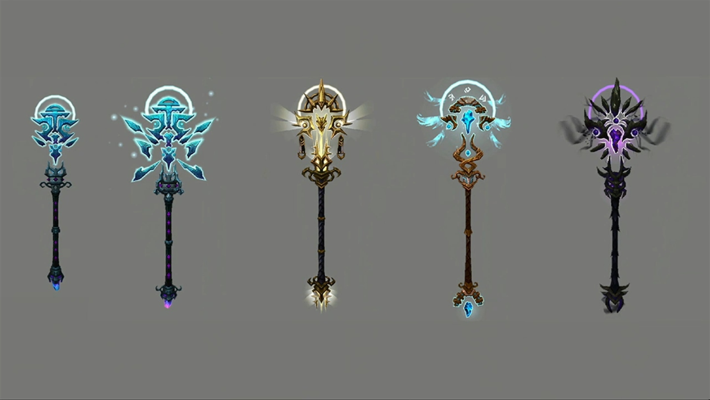 Tuure, a Luz dos Naarus e algumas de suas skins.