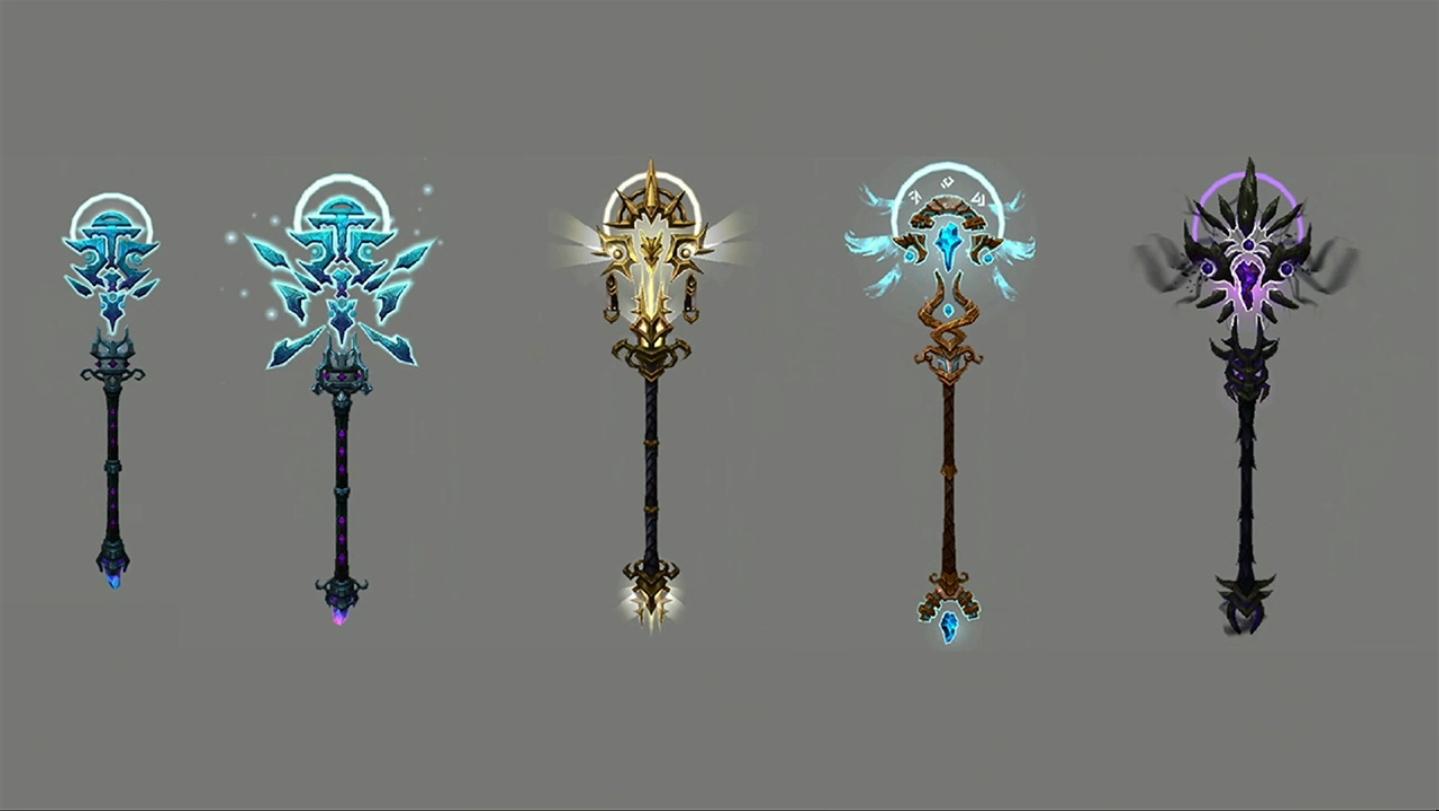 T'uure, a Luz dos Naarus e algumas de suas skins.