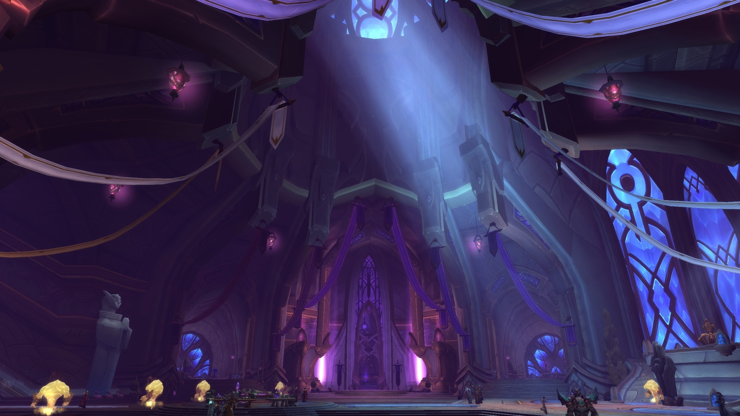 priest order hall Legion screenshot temple candles shadow