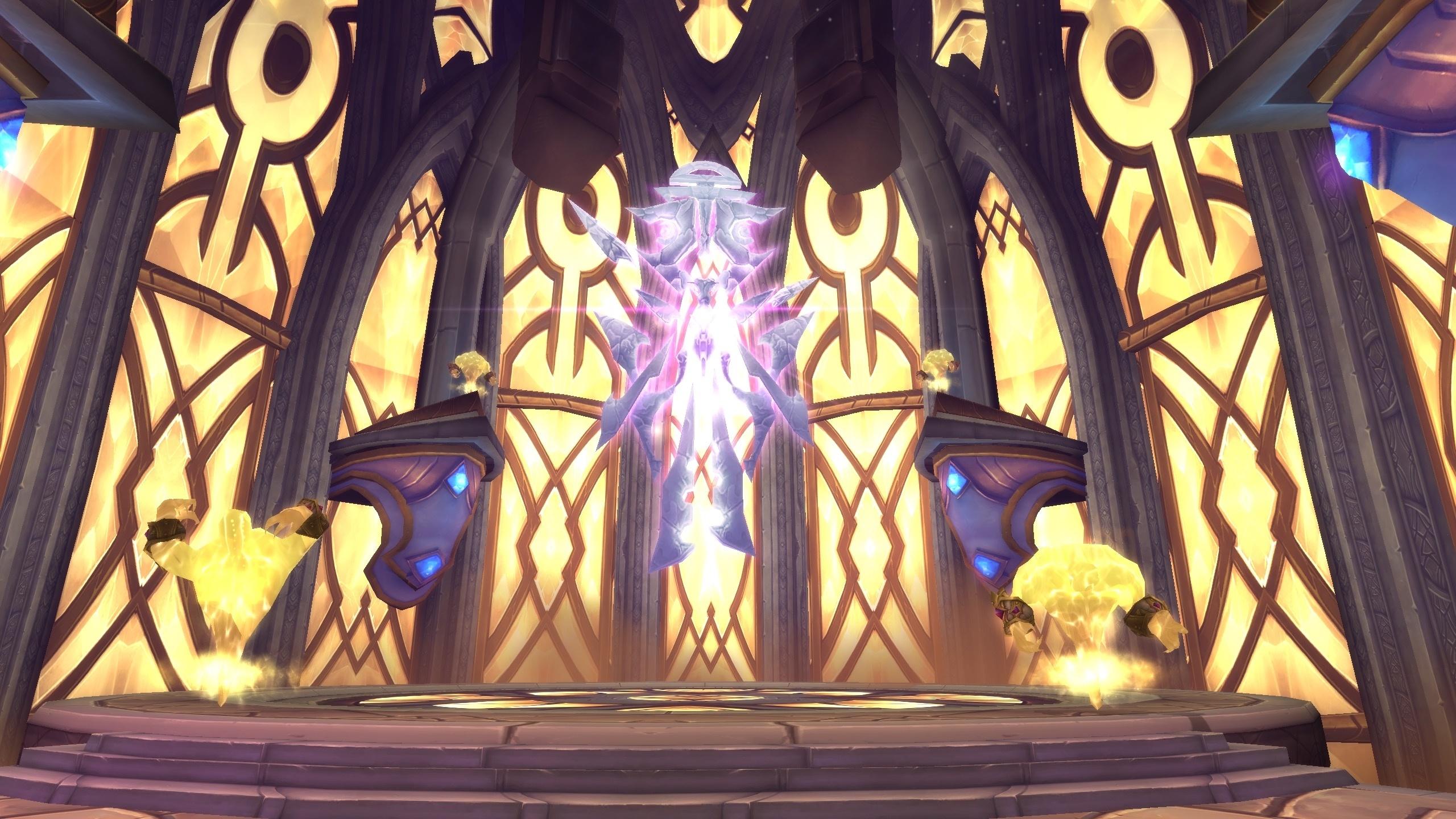 O Naaru Saa'ra no salão da ordem dos sacerdotes.